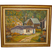 Vintage-RONALD-SEAGER-Rockport-CAPE-ANN-Fishing-Village-LANDSCAPE-Oil-Painting