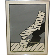 '73 JOSEPH CLOWER Pop Art Abstract PAINTING - Keith Haring Schl -Listed Colorado