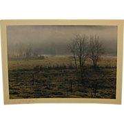Vintage 1971 DANIEL FARBER 'Autumn Fog' Photograph - in Art Institute of Chicago