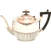 Large Art Deco Sterling Silver Teapot, Walker and Hall 1930