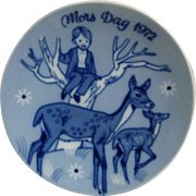 1972  Mors Dag Mother's Day Plate Third Issue Limited Edition Series