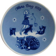 1973  Mors Dag Mother's Day Plate Fourth Issue Limited Edition Series.