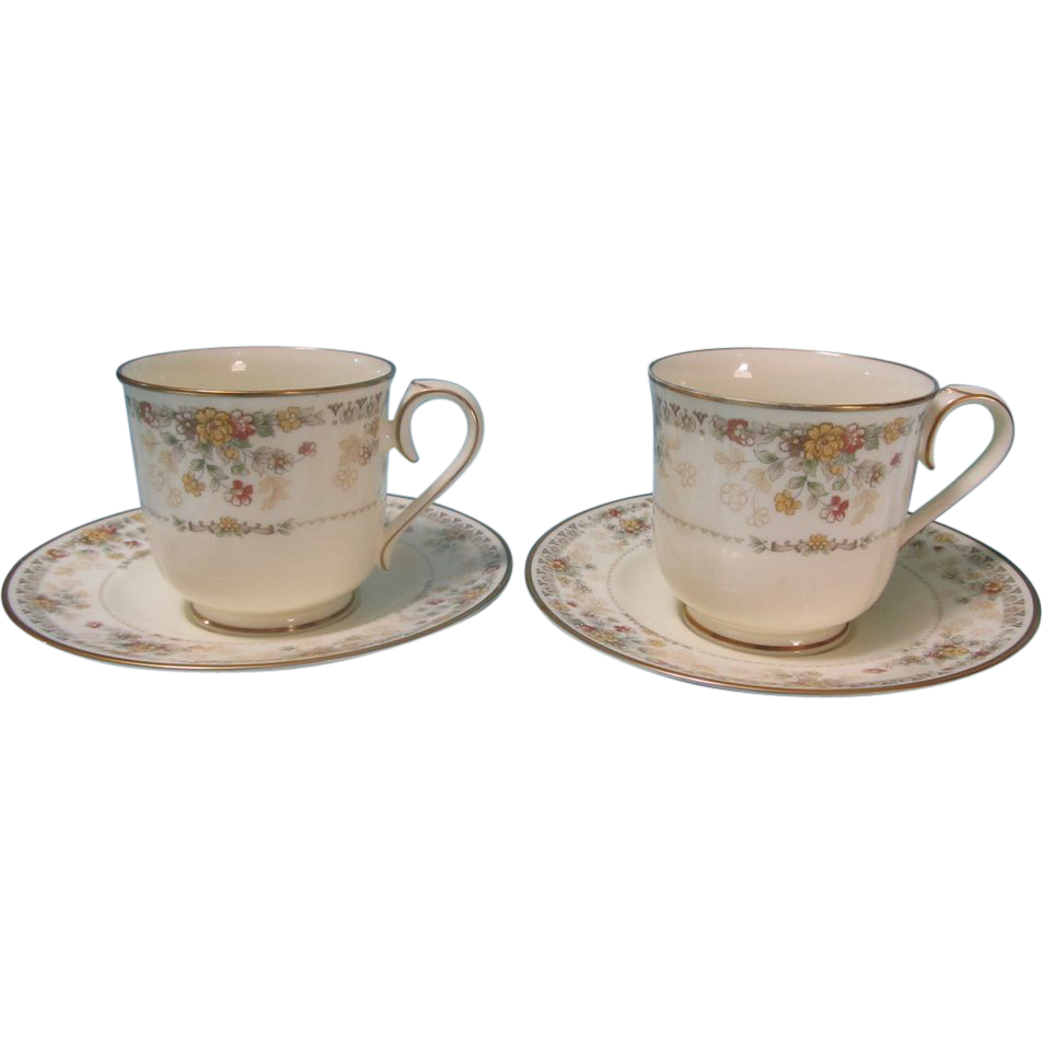 noritake bone china salisbury 9723 pattern cup saucer set. Black Bedroom Furniture Sets. Home Design Ideas