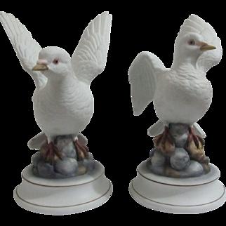 Large Vintage White Dove figurine  By Andrea Sadek made in Japan Figurine.