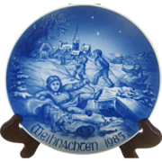 Bareuther 1985  Christmas Collector Plate Winter Wonderland Limited Edition
