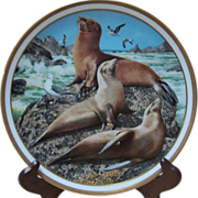 Lenox Present The American Wildlife Plate Collection Sea Lion By Norman Adams