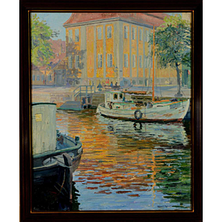 """Gold Palace, Christianhaven, 1947, 31.5 x 21.5 """" (36 x 26"""")"""