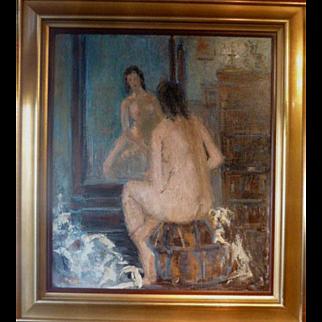 "Vanity Mirror, ca 1950, 27 x 24"" (35 x 32)"