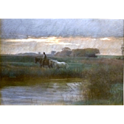 """Afternoon Rain Shower,"" ca 1885"