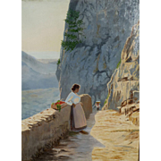 """Capri,"" ca 1900, 29 x 22"" (30-Day Money Back Guarantee)"