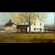 """Martin Farm, Early Spring, ca 1979, 10.5 x 19.5"""" (sight)"""