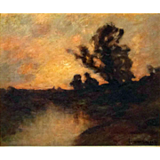"""Luminous Sunset,"" Edward Gay, N.A. 1837-1928"