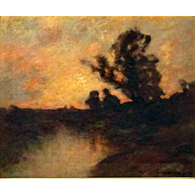 """Luminous Sunset,"" Edward Gay, N.A. 1837-1928"