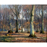 "Autumn at Peter's House, ca 1930, Oil on Canvas, 20 1/4 x 25 1/2"" (sight)"