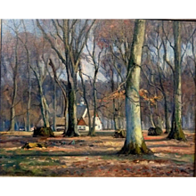 """Autumn at Peter's House, ca 1930, Oil on Canvas, 20 1/4 x 25 1/2"""" (sight)"""