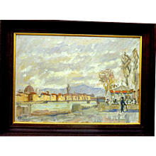 "Carousel, Ponte Vittoria, Florence, ca, 1935, 14 x 20"" (sight)"