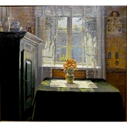 """My Favorite Room, ca 1925, Oil on Canvas, 21 3/4 x 20 1/8"""" (sight)"""