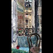 """Hotel Suze,"" Paris, 1954, 23 x 12 /12"" (30-Day Money Back Guarantee)"