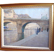 """Pont Neuf, Paris ca 1900,"