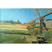 """Water Mill,"" ca 1888, 16x24"" (30-Day Money Back Guarantee)"