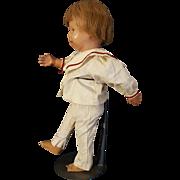 Schoenhut 14 inch RARE Walker Pouty Face Doll 1920's