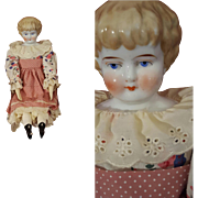 Antique German China Head Large Doll Porcelain arms and legs