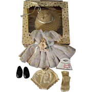 Vintage Ideal Shirley Temple 1950's RARE Complete Outfit for 12 inch Doll Original Box