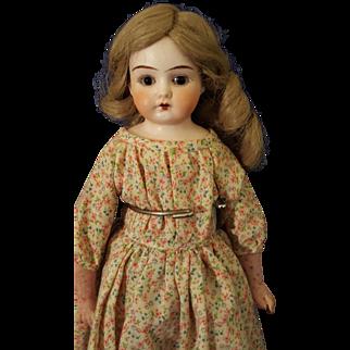 Antique German Bisque Shoulder Head Doll Marked Darling