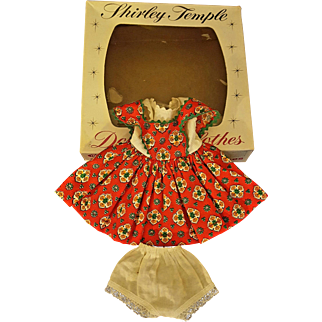 Vintage 1950's Ideal Shirley Temple Outfit for a 12 in Doll in an Original Box