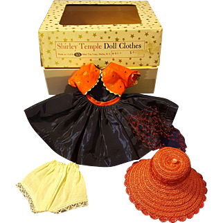Vintage Ideal Shirley Temple 1950's Dress Set in an Original Box