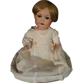 Antique Armand Marseille AM 971 Bisque Head Composition Baby Doll