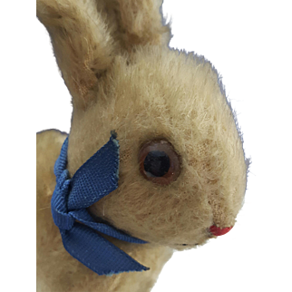 1909-1920 Steiff Rabbit/Bunny with RARE trailing ff Steiff knopf Button