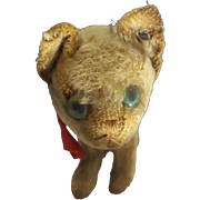 1910-1920's Antique Steiff Cat Kitten w/ RARE trailing ff Steiff knopf button