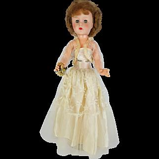 Vintage 1950s Miss Revlon Type 20 Bride Doll Red Hair Green Eyes Original