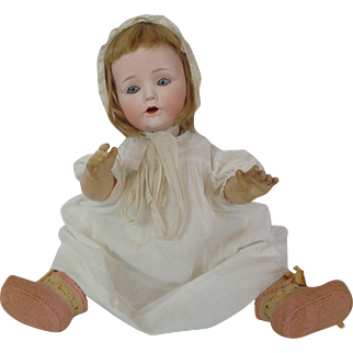 NIPPON Baby Doll Bisque Head Comp Body Antique Life Size Japan Antique Cute