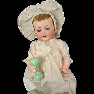 Antique Kammer Reinhardt Baby Doll 126 Life Size RARE Lamb Skin Wig Naughty Eyes