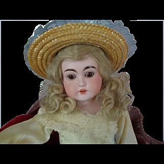 "Antique KESTNER Bisque Head Doll Letter Series RARE ""j"" 22 inch Doll Blonde Hair"