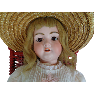 Antique Walkure German Bisque Head RARE 36 inch Doll Composition Jointed Body