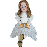 SIMON & HALBIG Doll Antique Bisque Head Jointed Comp Body 23 in Blue Eyes