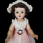 Vintage Plastic Walker Doll 1950s Doll 17in Unmarked All Original