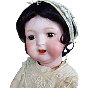 Morimura Character Baby Doll Antique Japan Mold 22 Brown Set Eyes 17 inches