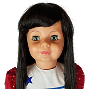 Ideal Patty Play Pal Doll G 35 7 Vintage Green Eyes Black Hair 36 inches Marked