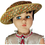 """Vintage Horsman 36"""" MARY POPPINS PLAYPAL DOLL Original Outfit & Umbrella 1960s"""