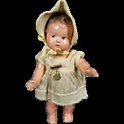 "Vintage Madame Alexander Dionne Quintuplets Doll CECILE 1935 7"" Composition CUTE"