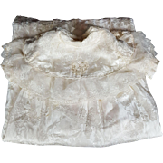 Vintage Christening Gown Baby Doll Child Satin Lined Lace Ivory Gorgeous