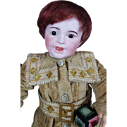 Antique Doll SFBJ 236 Laughing Jumeau French Boy 18 in Brown Eyes CUTE!