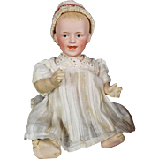 Antique Doll Heubach Character Baby Doll Laughing German Solid Dome Bisque Head