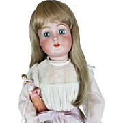 "Antique Doll Kammer Reinhardt Simon Halbig 76 LG 29"" Ice Blue Glass Eyes Pretty!"