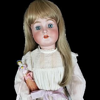 "Antique Doll Kammer Reinhardt Simon Halbig 76 LG 29"" Ice Blue Glass Eyes Pretty!"