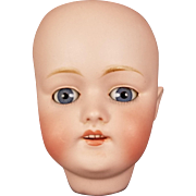 Antique Doll Kestner German Bisque Head RARE Mold 168 Blue Glass Eyes Size 81/2